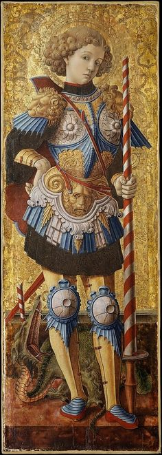 LARGE SIZE PAINTINGS: Carlo CRIVELLI Saint George 1472
