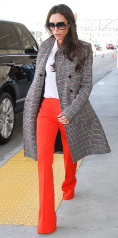 Celebrity-Inspired Outfits to Wear on a Plane - Victoria Beckham - from InStyle.com