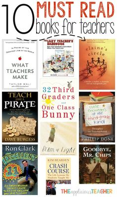 MUST Read Books for Teachers 10 Must Read Books for Teachers. Such a great list. The fourth one is a perfect summer time Must Read Books for Teachers. Such a great list. The fourth one is a perfect summer time read! Books Teachers Should Read, Teacher Books, New Teachers, Teacher Resources, Teachers Toolbox, Teacher Quotes, Teacher Stuff, Summer Jobs For Teachers, Teacher Summer