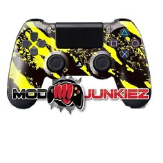 Hydro Dipped Yellow Splatter PS4 Dual Shock 4 Controller