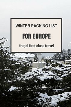 Hi Frugalistas! While my generic packing list is easily adapted for Europe (or anywhere else cold for that matter) if you are struggling with that winter packing list for Europe and keeping it to …