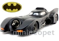 Hot Wheels X5533 Batman 1989 89 Batmobile 1 18 Diecast Black