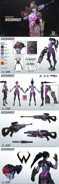 Overwatch - Widow Maker Reference Guide:
