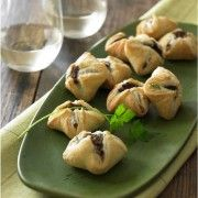 Wild mushroom and goat cheese puff pastry pockets — Diane Morgan Cooks Cheese Appetizers, Appetizer Recipes, Goat Cheese, Cheese Pastry, Cheese Puffs, Cheese Tarts, Thanksgiving Appetizers, Thanksgiving Recipes, Appetisers