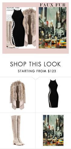 """Faux Fur in the Big City"" by ebeb1233 ❤ liked on Polyvore featuring Gianvito Rossi and Home Decorators Collection"