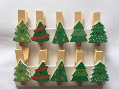 10pcs Free shipping Christmas Tree Wooden Clip Photo Paper Postcard Craft DIY Clips Office Binding Supplies for Christmas Party Decoration by KJdecoration on Etsy