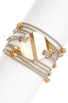 Swarovski Crystal Wrap Bracelet by Sara Designs on @HauteLook