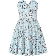 tfnc Sweetheart Neck Fit and Flare Dress found on Polyvore