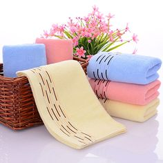 Comfortable Soft Cotton Bathroom Beach Face Hand Towel Home Fitness Washcloth