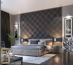Paint accent wallpaper bedroom wall ideas for feature interior colors r . Feature Wall Bedroom, Accent Wall Bedroom, Home Bedroom, Bedroom Interior, Bedroom Design, Luxurious Bedrooms, Bed Design, Bedroom Wall, Master Bedrooms Decor