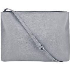 Matt&Nat Storm ($61) ❤ liked on Polyvore featuring bags, handbags, purses, clutches, gray crossbody purse, grey handbags, purses crossbody, crossbody handbag and man bag