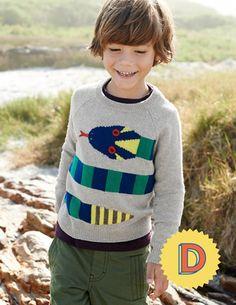 Mini Boden Pattern Sweater (Toddler Boys, Little Boys & Big Boys) Boys Fall Fashion, Boy Fashion, Autumn Fashion, Snake Sweater, Grey Sweater, Jumper, Boden Clothing, Cute Boy Outfits, Boys Sweaters