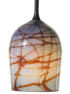 Canale Winter Dusk Glass Pendant Light | from ArtisanCraftedHome.com