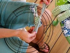 Southern Priss Designs: Fabric Wreath DIY Tutorial - great fabric wreath tutorial or you could use ribbon...excellent photos and instructions by marjorie