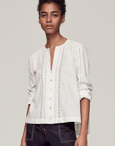 Lace Trim Swing Shirt | Shop Women's Shirts and Blouses | ME+EM