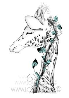 Wild Collection Giraffe, Artsy, Sketches, Illustration, Animals, Shirts, Design, Art Drawings, Animales