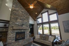 Plan 54220HU: Mountain Living with 3 Vaulted Bedrooms
