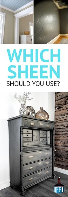 There's no formula to picking the perfect color, or pattern, but gratefully, there is a simple formula for choosing the right paint sheen. Learn more...