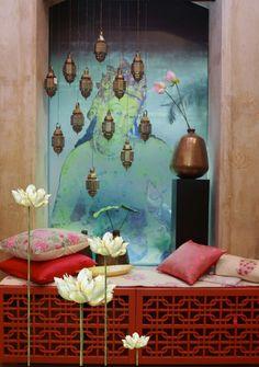 59 super Ideas for romantic bedroom lighting diy room ideas Boutique Decor, Boutique Interior, Bridal Boutique, Deco Zen, Indian Interiors, Puja Room, Indian Home Decor, Ethnic Home Decor, Bedroom Art