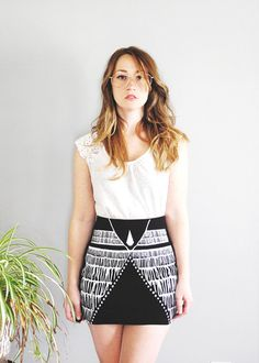 Nyala - Black High Waisted MINI Skirt – Simka Sol