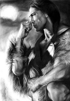 Native American PRINT of pencil drawing by DrawingIllustration Native American Drawing, Native American Print, Native American Paintings, Native American Wisdom, Native American Pictures, Native American Beauty, American Indian Art, Native American History, American Indians