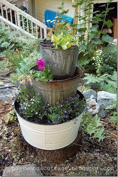 Metal Tub Planter
