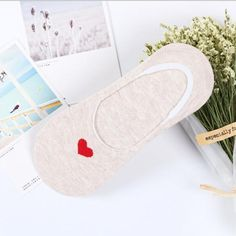 1ec5dbb2080 Women Heart Non-slip Sock Slippers Casual Invisible Socks Cotton Shallow  Mouth Candydresskily
