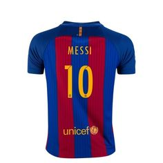 Nike Lionel Messi Barcelona Youth Home Soccer Jersey 16 17 - No Sponsor  Iniesta Barcelona 6f73481a5