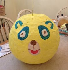 Greening a Five Year Old's Birthday Party on a Budget - Special Agent Oso Pinata
