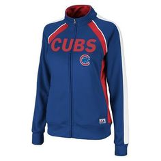 Chicago Cubs Ladies Track Jacket Full Zip Great Play - OneStopFanShop