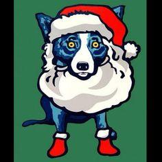 HoHoHo - Rodriguez blue dog Santa