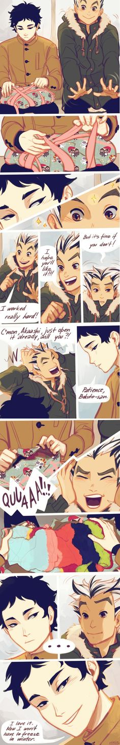 THIS MAKES ME SO HAPPY. I WANNA CRY EVERY TIME I SEE THIS. ITS SO CUTE. BOKUAKA FEELS