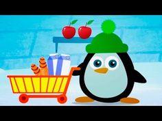 Мультик для малышей от года - Учимся считать, мультик про пингвиненка, учим счет, цифры, Baby U - YouTube
