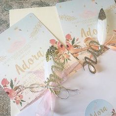 Here's a cute bespoke order we worked on for a special little lady's 1st birthday  thanks for sharing @_teresa_ng_ We love the gold glittery dipped feathers and laser cut ones that's you've added looks really beautiful  #stationery #birthdayinvitations #swan #firstbirthday #bespoke #glitter #gold #weddingstationery #gettingmarried #weddingplanner #weddingplanning #swoonatthemoon #swoonworthy #satm
