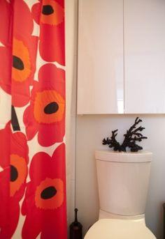 Poppy shower curtains