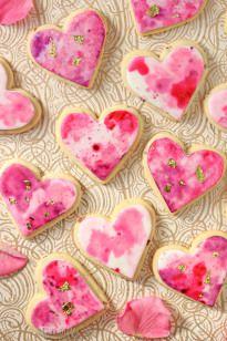 Watercolor Rose Sugar Cookies - SugarHero