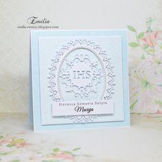 Emilia tworzy: Pierwsza Komunia Święta/Kartka komunijna/Card for Holy Communion Namaste, Frame, Picture Frame, Frames, Hoop, Picture Frames