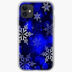 """""""Royal Blue Snowflake Motif"""" iPhone Case & Cover by HavenDesign 