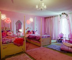 7 Barbie-Themed Hotel Rooms for the Eclectic Girly Traveler Themed Hotel Rooms, Pink Room, Awesome Bedrooms, Teenage Girl Bedroom Designs, Bedroom Design, Girls Bedroom Paint, Girly Bedroom
