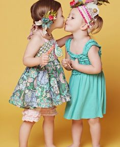 I love Matilda Jane Clothing for girls. Check out the website www.matildajaneclothing.com