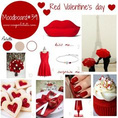 My moodboard on wednesday san valentino rosso * red valentine