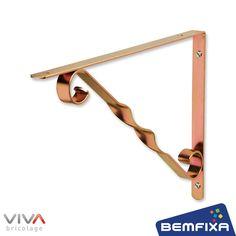 Os suportes VIVA Bricolage são fabricados com materiais de primeira qualidade, ofecerendo maior resistência e segurança.O Suporte Decorado para Prateleira possui pontas arredondadas e ângulo preciso d...
