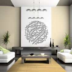 Art Nouveau Web No 1 in Brushed Aluminum 46 by ModaIndustria