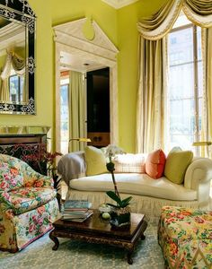 "dear friend, incredible designer and the ""Prince of Chintz"" Mario Buatta has a book coming out next month - ""Mario Buatta: Fifty Years of American Interior Decoration"". Here's a taste of a room he's designed. Architecture Supplies, Architecture Design, English Interior, American Interior, Apartment Decoration, Mario Buatta, Curved Sofa, English Country Style, Country Chic"
