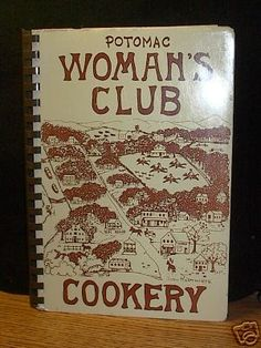 VIntage Maryland Community Cookbook Potomac Women's Club Recipes