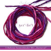 silk ribbons in violet