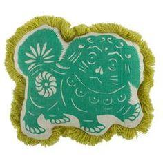 Thomas Paul Foo Dog Flax Pillow