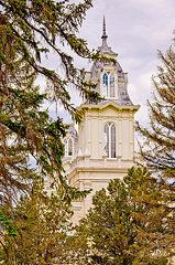 Featured Art - Manti Temple Two Towers  by David Simpson