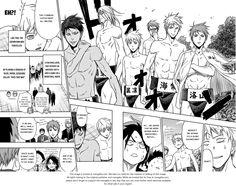 "Hinomaru-Zumou 72.5: Hinomaru Zumou X Kuroko no Basuke at MangaFox.me ~~~~ I'd love to see them ""wrestle"" xD"