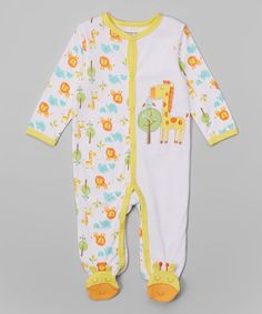 Another great find on #zulily! Yellow Giraffe Footie by Buster Brown #zulilyfinds